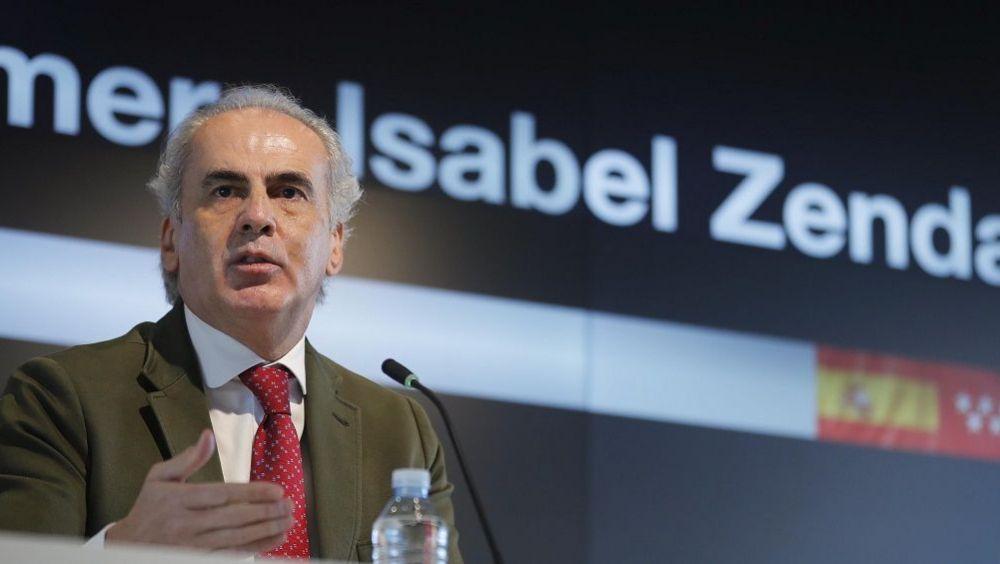 El consejero de Sanidad de la Comunidad de Madrid, Enrique Ruiz Escudero (Foto. CAM)