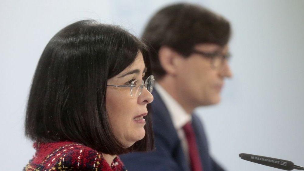 Carolina Darias, junto a Salvador Illa en rueda de prensa (Foto: Pool Moncloa / José María Cuadrado)