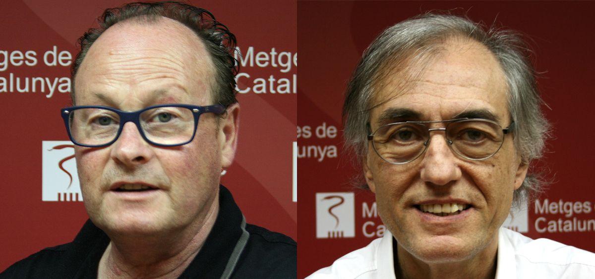 Los doctores Jordi Cruz y Josep Maria Puig, candidatos a la presidencia de Metges de Cataluña (Foto. Metges)