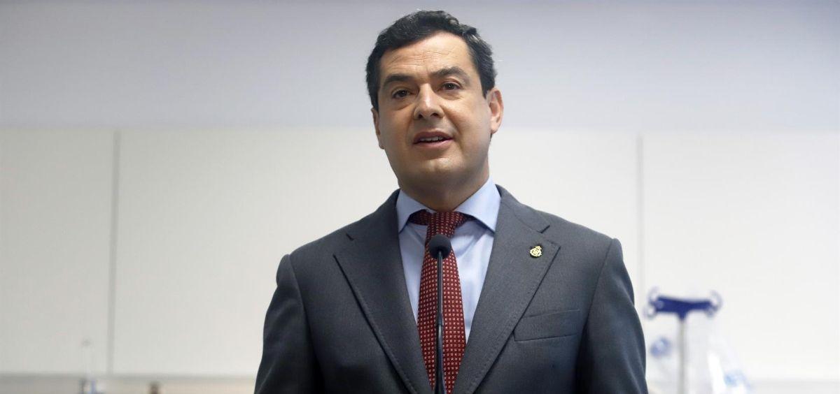 El presidente de la Junta de Andalucía, Juanma Moreno (Foto. Álex Zea  EP)