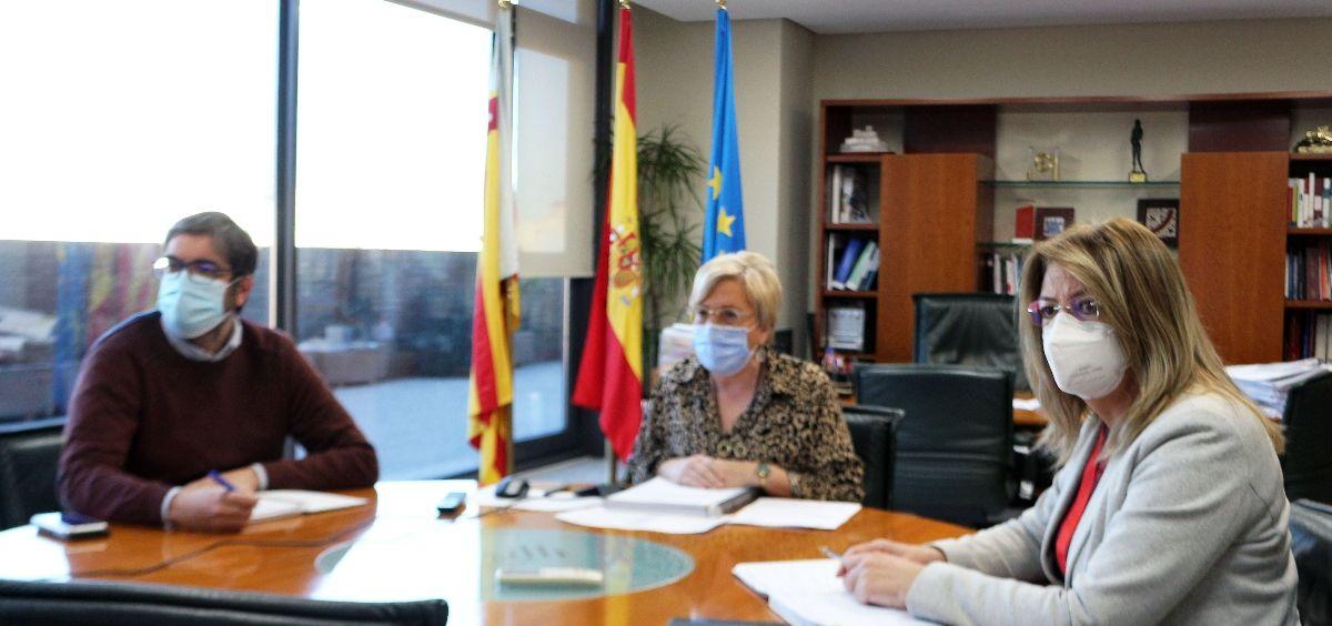 Reunión de la Consejería de Sanidad de la Comunidad Valenciana con los colegios profesionales. (Foto. GVA)