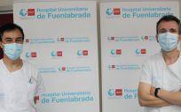 Jesús Sánchez y Luis Bernal (Foto. Hospital de Fuenlabrada)