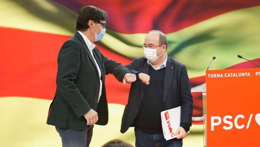 Salvador Illa y Miquel Iceta, en un reciente acto del PSC (Foto: PSC)