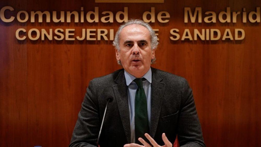 El consejero de Sanidad de la Comunidad de Madrid, Enrique Ruiz Escudero (Foto: CAM)