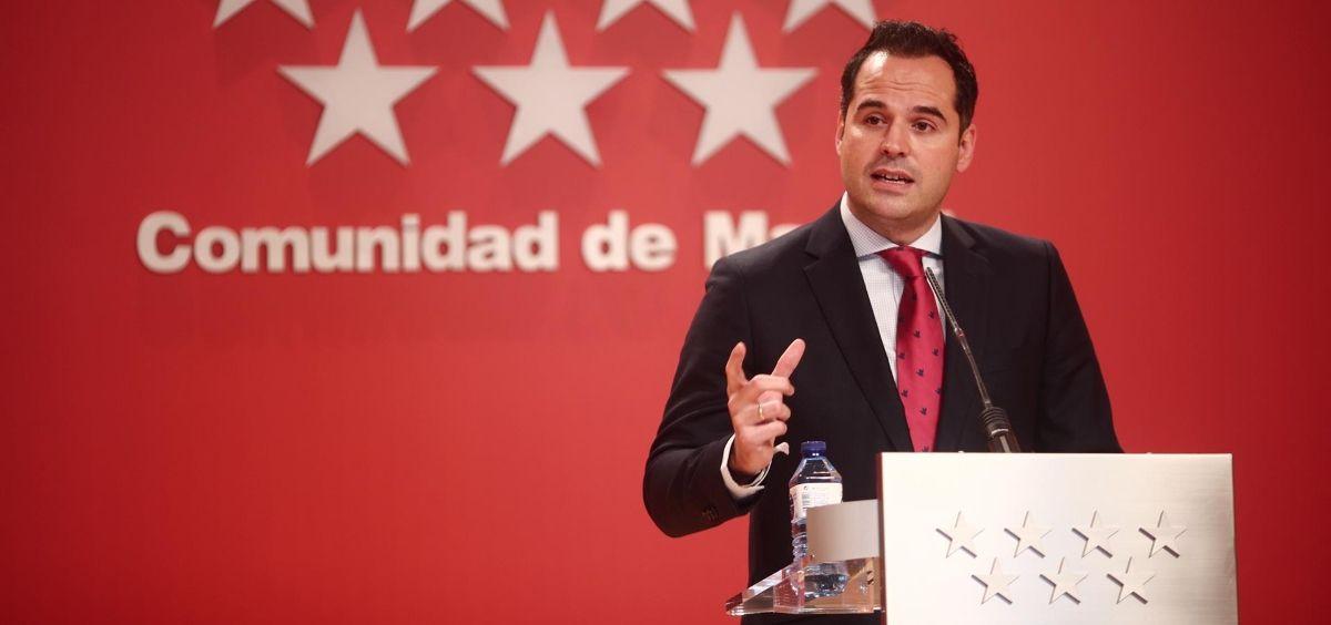 El vicepresidente de la CAM, Ignacio Aguado (Foto. EUROPA PRESS E. Parra. POOL   Europa Press)
