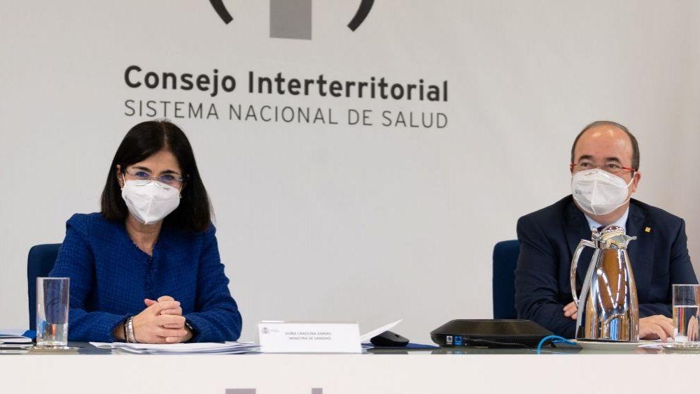 Carolina Darias, ministra de Sanidad, y Miquel Iceta, ministro de Política Territorial y Función Pública (Foto: Pool Moncloa / Borja Puig de la Bellacasa)
