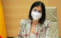 La ministra de Sanidad, Carolina Darias, en la Comisión de Sanidad del Congreso de los Diputados (Foto: Congreso)