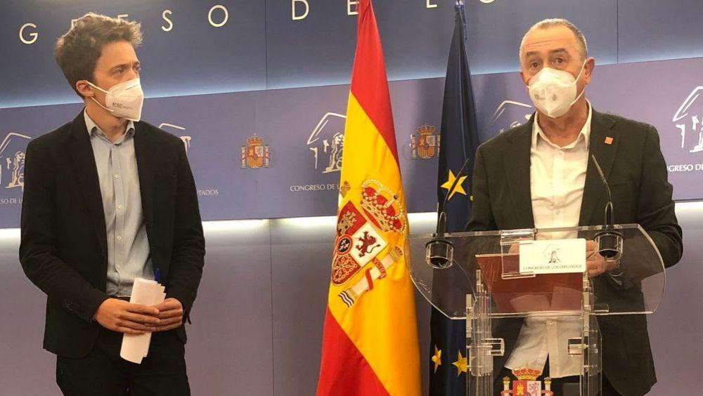 Íñigo Errejón y Joan Baldoví, diputados de Más País y Compromís (Foto: @CompromisCGR)