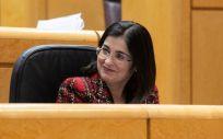 Carolina Darias, ministra de Sanidad, en el Senado (Foto: PSOE)