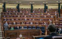 Pleno del Congreso de los Diputados durante la sesión de control al Gobierno (Foto: PSOE)