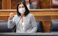 Carolina Darias, ministra de Sanidad, interviene en el Congreso de los Diputados (Foto: PSOE)
