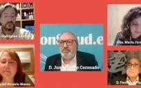 Imagen de la mesa 'Repercusión de la pandemia en el proceso oncológico' de la III Cumbre Española contra el Cáncer organizada por GEPAC.