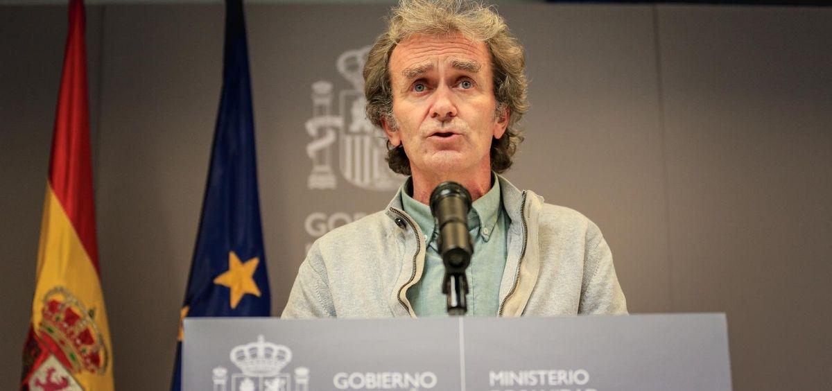 El director del Centro de Coordinación de Alertas y Emergencias Sanitarias (CCAES), Fernando Simón. (Foto. T.Rozas. POOL / Europa Press)