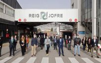 Alba Vergés visita la planta de Reig Jofre