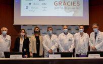 Equipo del Hospital Clínic durante la presentación del tratamiento CAR-T (Foto: H.Clinic)