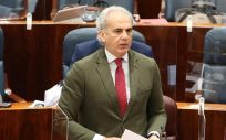 El consejero de Sanidad de la Comunidad de Madrid, Enrique Ruiz Escudero, en la Asamblea (Foto. Marta Fernández Jara / Europa Press)