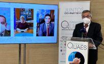 Javier Benítez, presidente de la Fundación QUAES en la inauguración de su quinto aniversario (Foto. Fundación QUAES)
