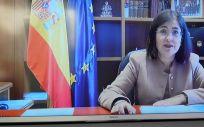 La Ministra de Sanidad, Carolina Darias, en el acto conmemorativo por el Día Internacional del Cáncer Infantil (Foto. ConSalud)