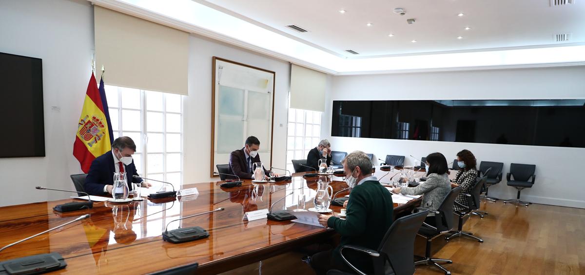 Comité del Seguimiento del Coronavirus. (Foto. Pool Moncloa Fernando Calvo)