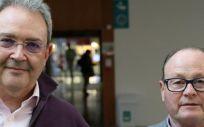 Los cirujanos Jordi Cruz y Xavier Lleonart, elegidos presidente y secretario general de Metges de Catalunya. (Foto. MC)