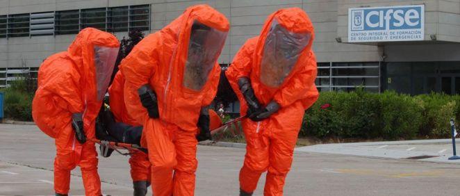 Curso de reciclaje en riesgos nucleares, radiológicos, biológicos o químicos (NRBQ) en las instalaciones del Centro Integral de Formación de Seguridad y Emergencias (Foto: Samur-PC)