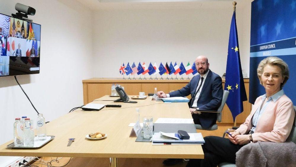 Ursula von der Leyen y Charles Michel, presidenta de la Comisión Europea y presidente del Consejo Europeo (Foto: CE - Servicio Audiovisual)