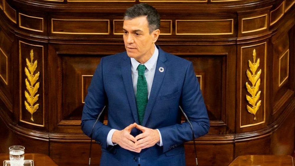 Pedro Sánchez, presidente del Gobierno, interviniendo en el Congreso de los Diputados (Foto: Congreso)