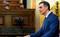 El presidente del Gobierno, Pedro Sánchez, interviniendo en el Congreso (Foto: Congreso)