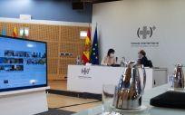 La ministra de Sanidad, Carolina Darias; y el ministro de Política Territorial en el Consejo Interterritorial del SNS (Foto. Pool Moncloa / Borja Puig de la Bellacasa)