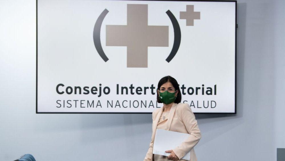 Carolina Darias, ministra de Sanidad, tras el Consejo Interterritorial del SNS (Foto: Pool Moncloa / Borja Puig de la Bellacasa)