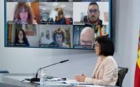 Carolina Darias, en rueda de prensa tras el Consejo Interterritorial (Foto: Pool Moncloa / Borja Puig de la Bellacasa)