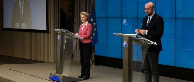 Ursula von der Leyen, presidenta de la Comisión Europea, y Charles Michel, presidente del Consejo Europeo (Foto: UE)