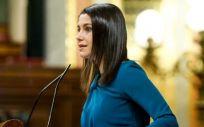 Inés Arrimadas, líder de Ciudadanos, en el Congreso de los Diputados (Foto: Congreso)