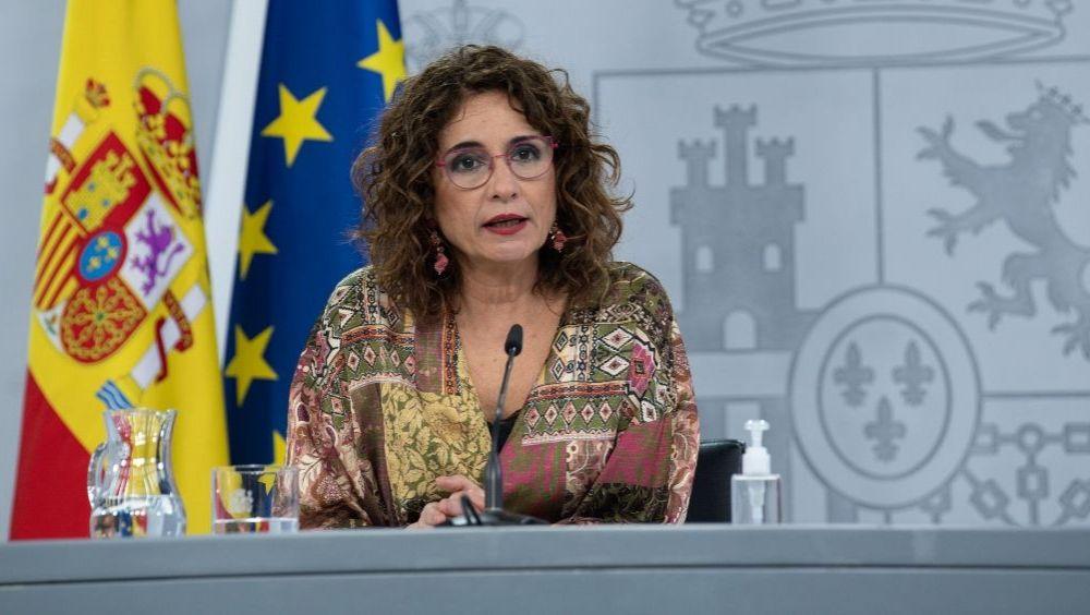 María Jesús Montero, portavoz del Gobierno, tras el Consejo de Ministros (Foto: Pool Moncloa / Borja Puig de la Bellacasa)