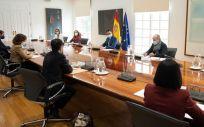 Reunión de Pedro Sánchez con siete ministros del Gobierno sobre los certificados de vacunación (Foto: Pool Moncloa / Borja Puig de la Bellacasa)