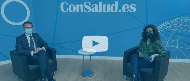 Entrevista en el plató de ConSalud TV a Jorge Huertas, director general de Oximesa y Nippon Gases Healthcare