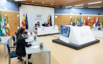 Miembros del Ministerio de Sanidad antes de un Consejo Interterritorial (Foto: Pool Moncloa / Borja Puig de la Belllacasa)