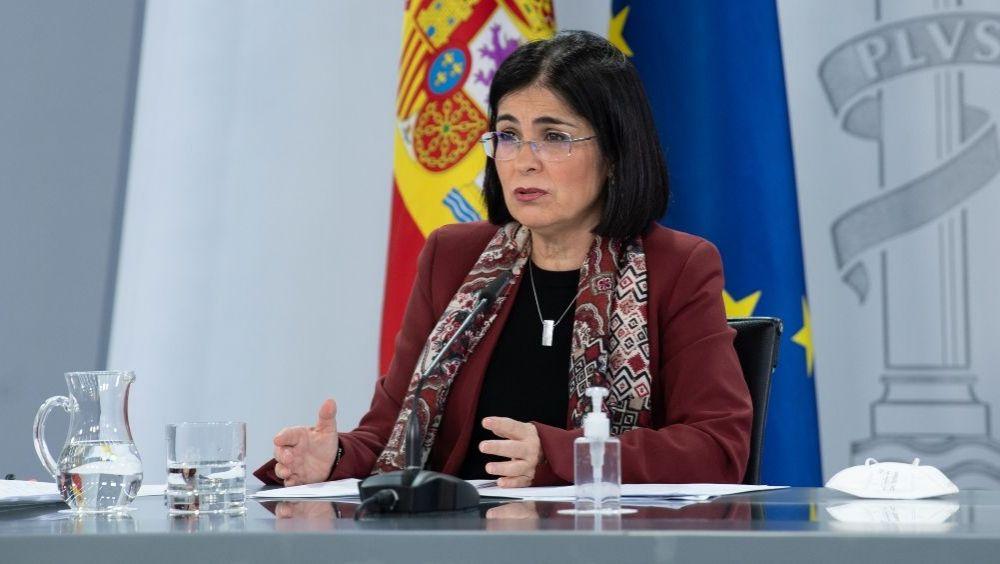La ministra de Sanidad, Carolina Darias, tras el Consejo Interterritorial (Foto: Pool Moncloa / Borja Puig de la Bellacasa)
