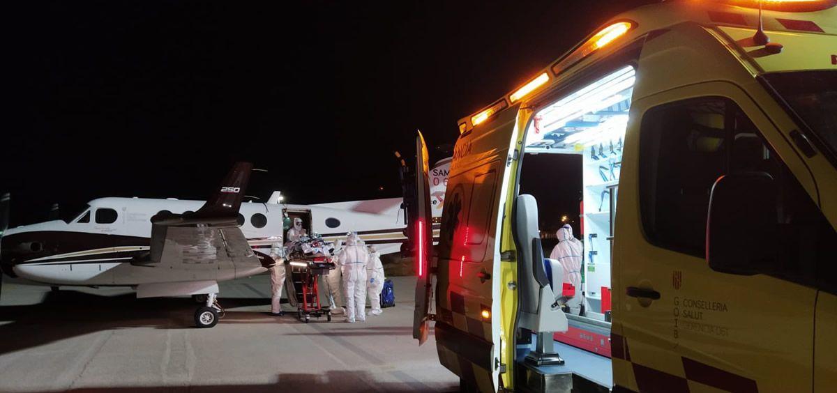 Traslado de pacientes (Foto. Equipo del Programa ECMO Adulto del Hospital Vall d'Hebron)
