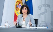 La ministra de Sanidad, Carolina Darias, en rueda de prensa tras el Consejo Interterritorial (Foto: Pool Moncloa / Borja Puig de la Bellacasa)