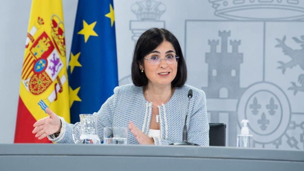 La ministra de Sanidad, Carolina Darias, tras el pleno del Consejo Interterritorial (Foto: Pool Moncloa / Borja Puig de la Bellacasa)