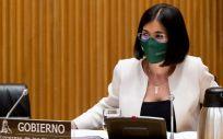 Carolina Darias, ministra de Sanidad, interviene en la Comisión de Sanidad (Foto: Congreso)