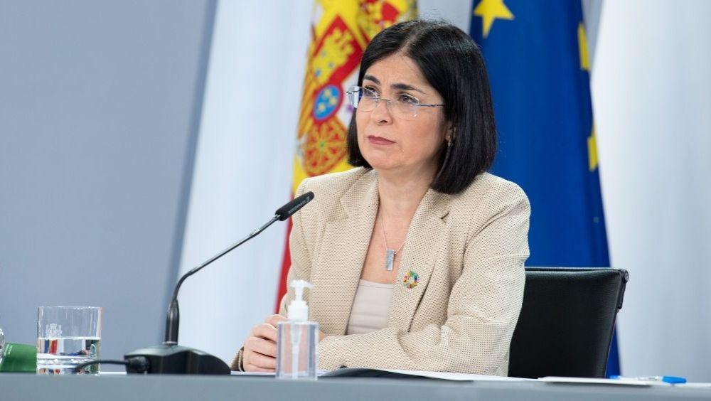 Carolina Darias, ministra de Sanidad, en rueda de prensa (Foto: Pool Moncloa / Borja Puig de la Bellacasa)