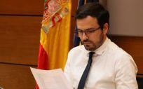 El ministro de Consumo, Alberto Garzón, en la reunión informal del Consejo de Empleo, Política Social, Sanidad y Consumo (EPSCO) de la UE. (Foto. Ministerio de Consumo)