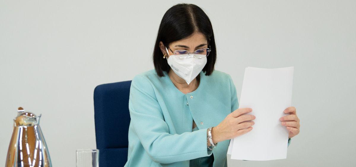 La ministra de Sanidad, Carolina Darias. (Foto. Pool Moncloa Borja Puig de la Bellacasa)