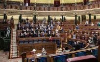 Pleno del Congreso de los Diputados tras la aprobación de la ley de eutanasia (Foto: PSOE)