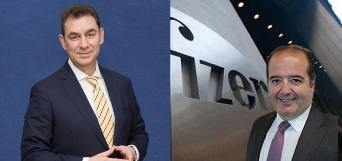Albert Bourla y Sergio Rodríguez, CEO y director general de España de Pfizer respectivamente