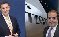 Albert Bourla y Sergio Rodríguez, CEO y director general de España de Pfizer, respectivamente