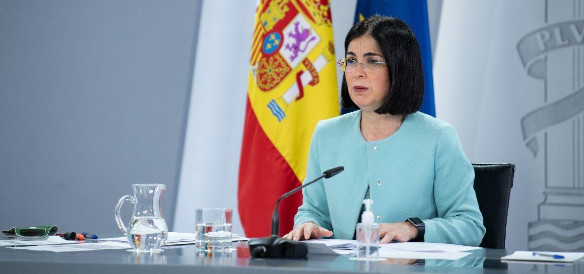 La ministra de Sanidad, Carolina Darias. (Foto. Pool Moncloa / Borja Puig de la Bellacasa)
