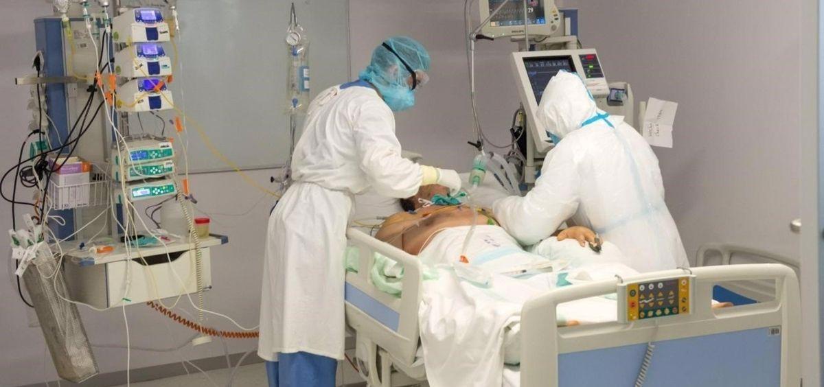 Paciente ingresado en UCI por la Covid-19 (Foto. JCCM)